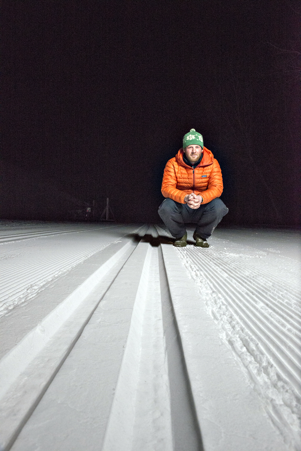 Dartmouth alum Lucas Schultz, Snowmaker, Craftsbury Outdoor Center, Craftsbury, Vermont.